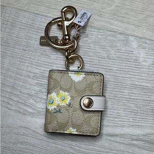 Coach Picture Frame Bag Charm  Daisy Print